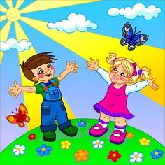 happy kids cartoon - Google Търсене