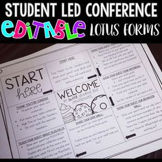 I love using these lotus charts to help with student led conferences.