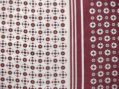 東欧レトロ あずき色のレトロ柄ヴィンテージファブリック 幅133cm | Frau Vintage
