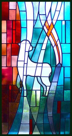 lambs stained glass | Jesus Lamb Of God Stained Glass And in jesus christ his only
