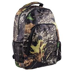 Reinforced Design Water Resistant Backpack Woodland Camo >>> See this great product.