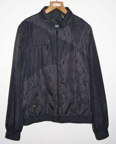 JACK & JONES Black Polyester Tracksuit Jacket Men s Fashion Designer Size M LOGO