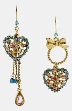 Betsey Johnson 'Vintage Bow' Drop Earrings available at #Nordstrom