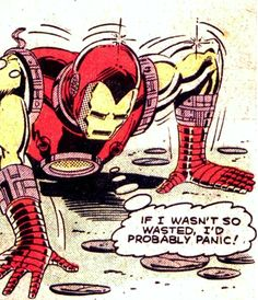 Tony Stark and his drinking Tony Stark, Comic Books Art, Comic Art, Book Art, Marvel Avengers, Marvel Comics, Marvel Memes, Comic Panels, Vintage Comics