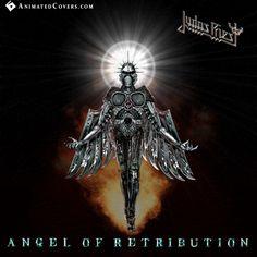 Judas Priest - Angel Of Retribution (animated cover) #judaspriest #robhalford #heavymetal #truemetal #thrashmetal #speedmetal #powermetal #animatedcovers #gifcover #gifs