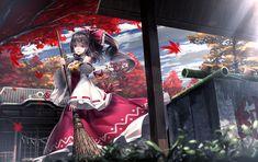 touhou wallpaper free hd widescreen by Erving Fairy Anime Girl Cute, Anime Art Girl, Anime Girls, Japanese Outfits, Landscape Illustration, Art Background, Manga Girl, Anime Style, Kawaii Anime