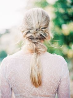A slightly undone bridal braid: http://www.stylemepretty.com/2016/02/22/30-must-haves-to-plan-the-ultimate-cool-girl-wedding/