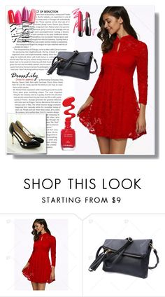 """""""Always wear red"""" by amra-sarajlic ❤ liked on Polyvore featuring Bobbi Brown Cosmetics and dresslily"""