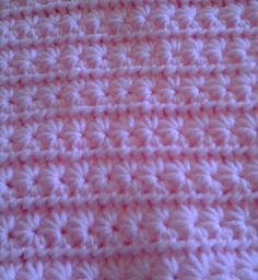 Ya'll gotta stop having girls. This will be my 5th girl blanket in two months. Star stitch. Next time im going to use a k hook. This is a J. And im woundering if i can do this in a corner to corner stitch. Anyone know?