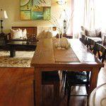 Reclaimed Teak dining table, rustic coffee table and Teak Slat Book Shelf from Gado Gado.