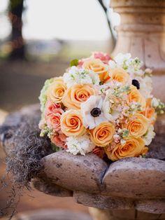 Peach Wedding Bouquet - Christa Elyce Photography #BridalBouquet #Weddings #ChristaElyce
