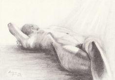 ORIGINAL DRAWING Female nude 6 by Milena Gawlik  by MilenaGawlik