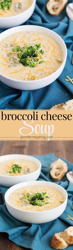 Broccoli Cheese Soup - JenniferMeyering.com