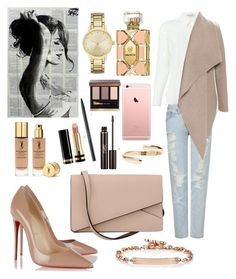 """"" by dilya-kadyrova ❤ liked on Polyvore featuring AG Adriano Goldschmied, Yves Saint Laurent, Christian Louboutin, Valextra, Harris Wharf London, Wildfox, Kate Spade, Hoorsenbuhs, Gucci and Maison Margiela"