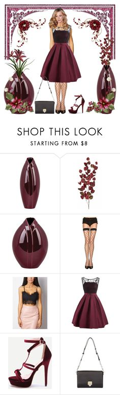 """""""Beautiful Burgundy Dress!"""" by bevmardesigns ❤ liked on Polyvore featuring Surya, ToBeInStyle, Hobbs, women, fashionset and womensFashion"""