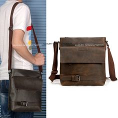 Designer Men's Genuine leather Cross body Bag Shoulder Bag Purse Designer original style