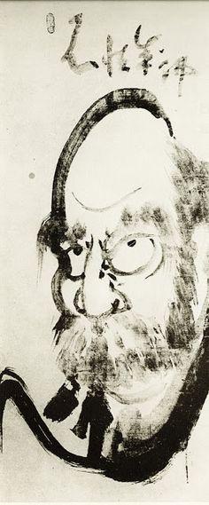 Bodhidharma by Hakuin Ekaku (1686-1769)