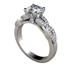 1.70Ct Round Cut Infinity Inspired Engagement Ring Available in 14K, 18K and Platinum. Agape Diamonds. Lab created diamonds. Man made diamonds. Wedding. Engagement ring. Wedding ring. Bridal. Gold. Platinum. Diamond. Simulated diamond.