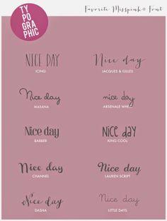 misspink: Fonts ♥