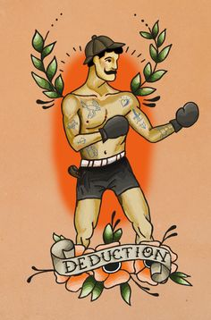 #boxer #box #boxing #tattoo #traditional_tattoo #oldschool #deduction #sherlock_holmes