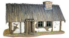 TER002 Russian Village House with Wooden Roof