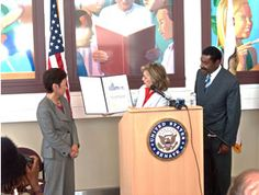 On August 7, 2008, Senator Barbara Boxer presented her Conservation Champion Award to the County of Alameda for its sustainability initiatives.