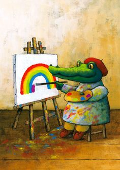 crocodile alligator artist painting