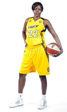 """Sheryl Swoopes, former WNBA basketball player & head coach of women's basketball at Loyola U. Chicago. She was the 1st player to be signed in the WNBA, and is a 6x WNBA All-Star, 4x WNBA Champion, 3 Olympic Gold Medalist, & 3x WNBA MVP. Referred to as the """"female Michael Jordan,"""" she is famous for both her offensive & defensive skills. In 2005, she was the most recognizable athlete, male or female, to come out as gay in a team sport. She is considered 1 of the Top 15 players in WNBA history."""