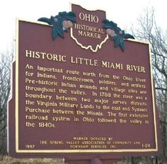 Simon Kenton Historical Sites   Historic Little Miami River Marker (Side A) Photo, Click for full size