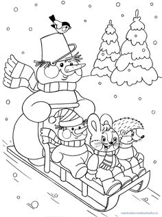 Cute Sledding In Winter Coloring Page See the category to find more printable coloring sheets. Also, you could use the search box to find what you wan. Coloring Pages Winter, Colouring Pages, Printable Coloring Pages, Coloring Pages For Kids, Coloring Books, Christmas Coloring Sheets, Snowman Quilt, Christmas Templates, Christmas Embroidery