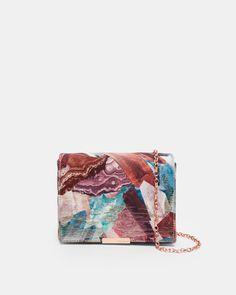 Mirrored Minerals jacquard evening bag