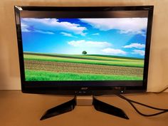 "Genuine 22"" ACER Widescreen Desktop Computer Monitor P224W Used Tested Working!"