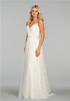 7810aa06 Ti Adora by Alvina Valenta - 7458 - Wedding Dress. See more. Ivory/ Gold  modified A-line gown. Sweetheart neckline with jeweled straps and keyhole