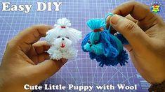Fun Diy Crafts, Diy Crafts Videos, Yarn Crafts, Crafts For Kids, Pom Pom Maker, Cute Little Puppies, Wool Yarn, Lana, Diy Projects