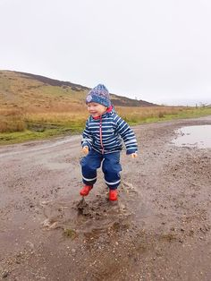 Jumping in Muddy Puddles! Amazing Puddle Jumping in Ultra Light Wellies and Fully Waterproof Rain Set! Puddle Jumping, Outdoor Play, Boys Who, Purple, Blue, Rain, Winter Jackets, Coat, Jackets