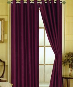 Look at this Purple Elaine Faux Silk Grommet Panel - Set of Two on #zulily today!
