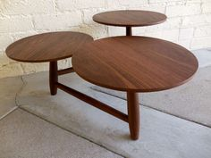 An Engaging Walnut Coffee Table With Multi Level Pod Surfaces. C. 1960u0027s  Image 8