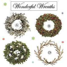 Wondeful Wreaths www.theteeliebog.com Wreaths have become a significant decoration this season. Their shape represents the circle of life and the leaves portray the crown of thorns. Here are wreaths that will surely give a holiday home feeling. #TeelieBlog