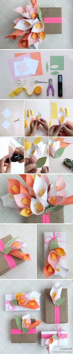 Trendy Diy Paper Flowers For Cards Beautiful 29 Ideas Paper Flowers Diy, Flower Crafts, Diy Paper, Paper Crafts, Kraft Paper, Origami Diy, Origami Flower, Origami Bouquet, Diy And Crafts