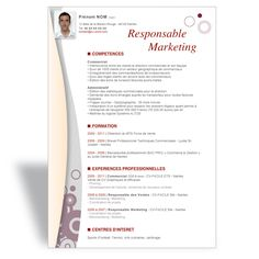 Mod  Le CV Word Responsable Marketing II