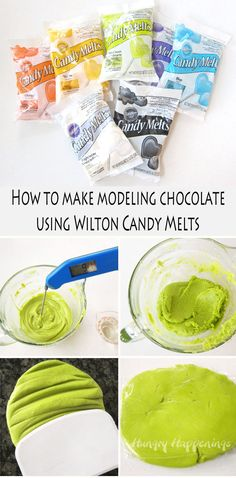 Learn how to make modeling chocolate using candy melts to create edible cupcake wrappers. (How To Make Cake Candy Melts) Modeling Chocolate Recipes, Chocolate Candy Recipes, Chocolate Cupcakes, Chocolate Diy, Chocolate Making, Chocolate Fondant, Wilton Chocolate Melts, Chocolate Cake Toppers, Molding Chocolate