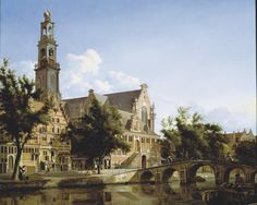 Jan van der Heyden - private collection. The Westerkerk, Amsterdam (c. 1667)