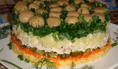 Mushroom Lawn, Ukrainian Traditional Recipes - description, pictures, cooking tips. Find the best Ukrainian dishes for sharing with family and friends Ukrainian Recipes, Russian Recipes, Ukrainian Food, Russian Foods, Georgian Food, Salmon Burgers, Food Hacks, New Recipes, Cooking Tips