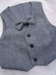 Mix greys vest with bow tie for little boys grey by allfortheboys, $35.00