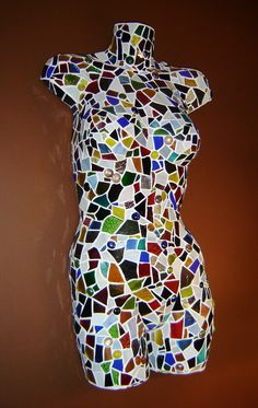 Mosaic Wall Hung Torso - Should do this to the leg we have