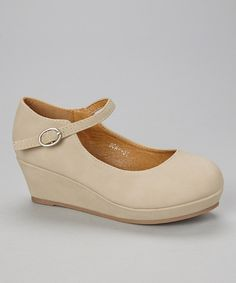 Look at this #zulilyfind! Lucky Top Beige Soap Mary Jane Wedge by Lucky Top #zulilyfinds