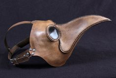 Plague Doctors mask Maximus in brownish tan leather