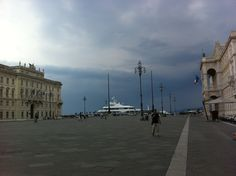 stormy sky in piazza unita' #trieste  ©mirella zolli