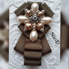 """Купить Брошь-галстук""""Лесная олива"""" - хаки, модная брошь, модные броши, брошь"""