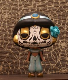 Custom Funko POP Vinyl Disney Princess Jasmine Day of the Dead style Comes repackaged in original box Everything I make, I sell.  You can check out all of my work and purchase something on facebook: www.facebook.com/ImaginationTherapy